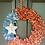 Thumbnail: 4th of July Wreath, Farmhouse Wreath, Patriotic Wreath, Denim Wreath, Blue Jean
