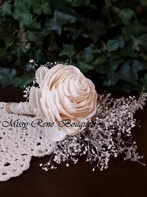 Sola Flower Boutonniere, Ivory Boutonniere, Rustic Wedding, Sola Flowers,  Burla