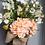 Thumbnail: Basket Wreath for Front Door, Peach Hydrangea Flower Basket, Summer Wreath, Spri