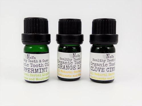 Navaoral Organic Tooth oil - 3 in a bundle (5ml x 3)