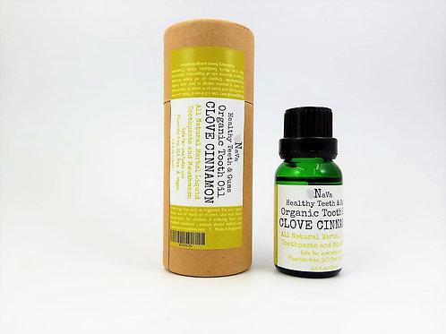 Navaoral Organic Tooth oil - Clove Cinnamon 15ml