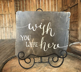 Wish You Were Here Sign