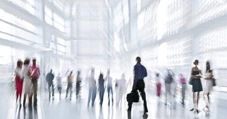 people in large atrium