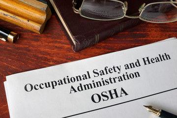 OSHA literature on desk