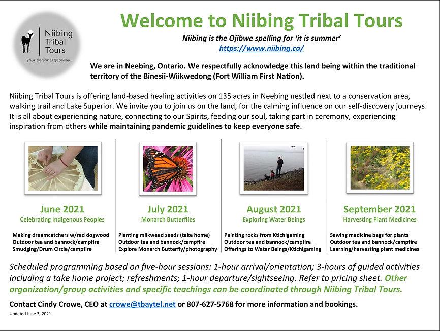 Welcome to Niibing Tribal Tours June 3,
