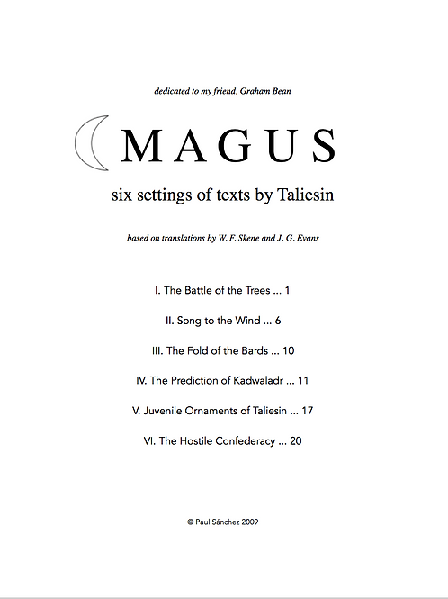 Magus: six settings of texts by Taliesin (PDF)