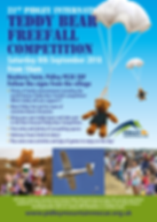 Poster for The 21st Pidley International Teddy Bear Freefall Competition