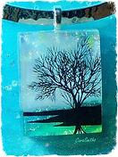 Carasmiths EternaMemories art glass memorial pendant