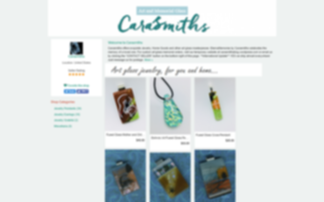 Carasmiths EternaMemories art glass jewelry