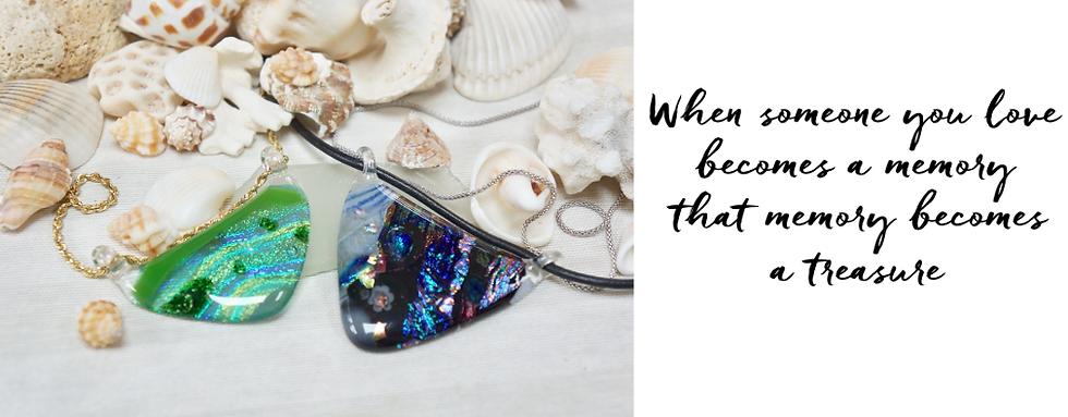 Memorial jewelry art glass carasmiths eternamemories art glass pendants aloadofball Image collections