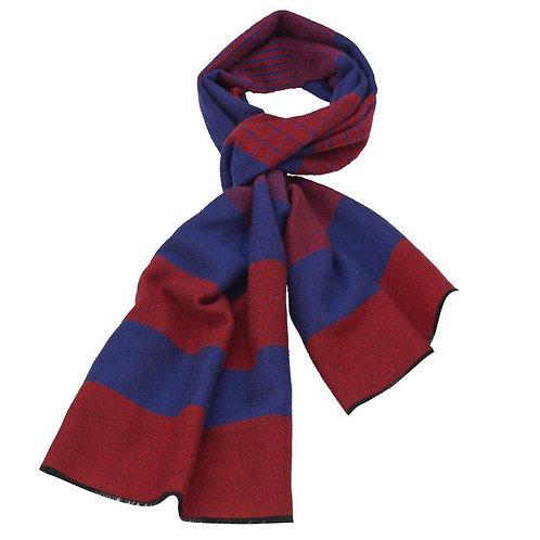 Rodier - Wool Striped Muffler Navy/Red