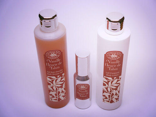 Tahitian Vanilla Gel, Lotion, and Eau de Toilette Set