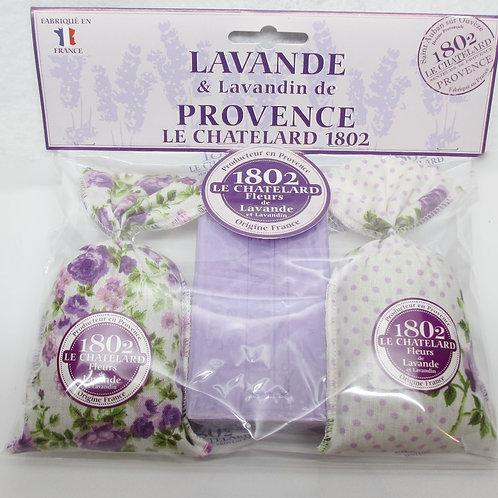 Gift Set : 2 lavender sachets + 1 lavender soap bar
