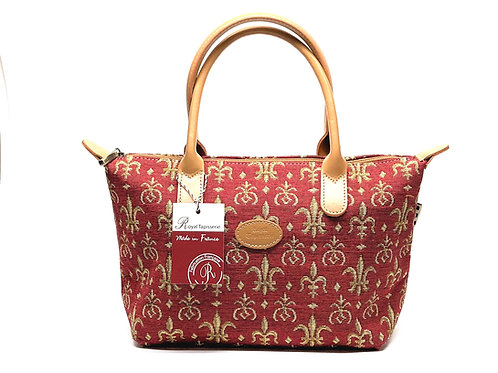 "Royal Tapisserie Hand Purse, ""Fleur de Lys"" - Red"