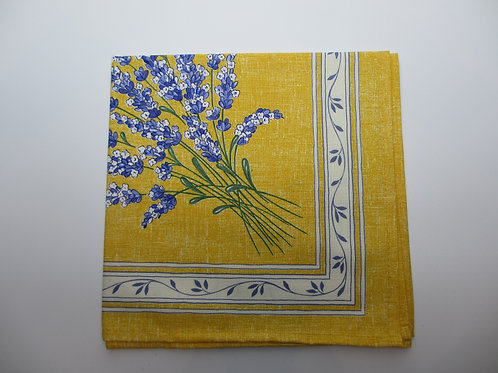 "Set of 6 napkins, ""Lavande Jaune"""