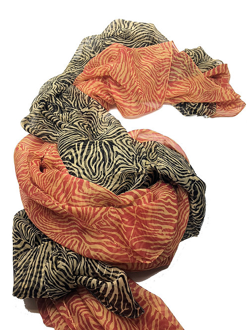 "2 - ELLE made in France ""Zebra"" Silk Scarves – 2011034(2)"