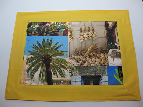 Riviera Exclusive Yellow Frame Placemats- Set of 6