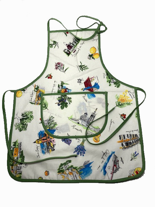 Wipe-off Acrylic-coated Kid's Apron for young chefs and artists (SoF)
