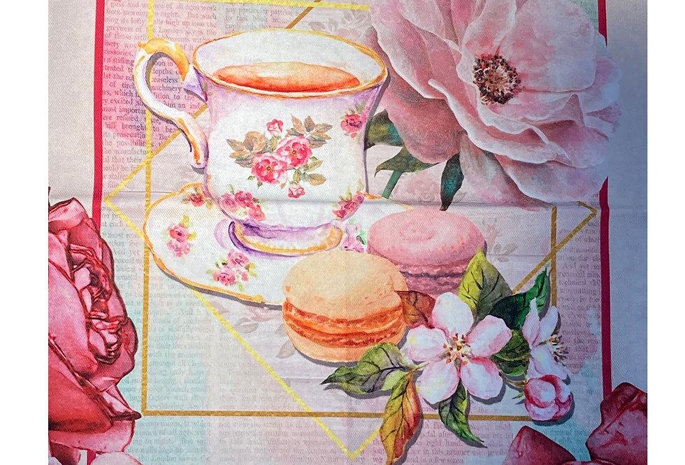 """Decorative Dish Towel """"Macarons"""""""