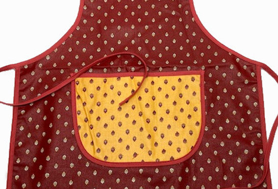 Wipe-off Acrylic-coated Kid's Apron for young chefs and artists (PPRe)