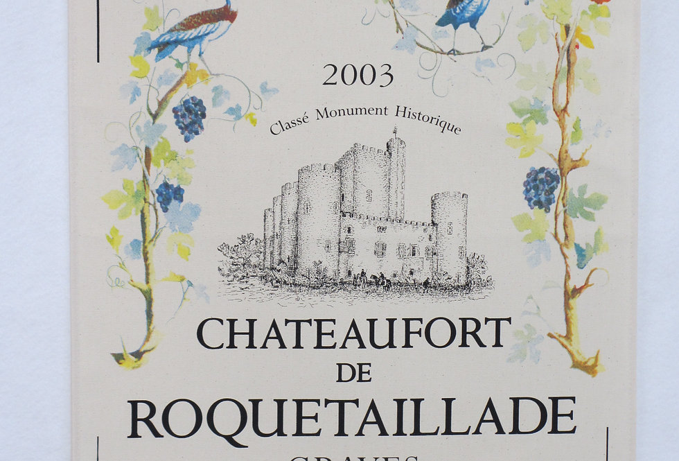 Dish Towel - Wine Poster / Chateaufort