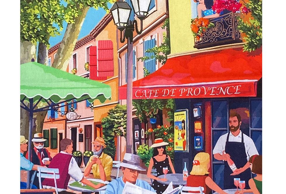 "Decorative Dish Towel ""Cafe de Provence"""