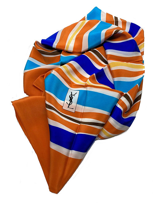 Yves Saint Laurent Silk Scarf - Waves O
