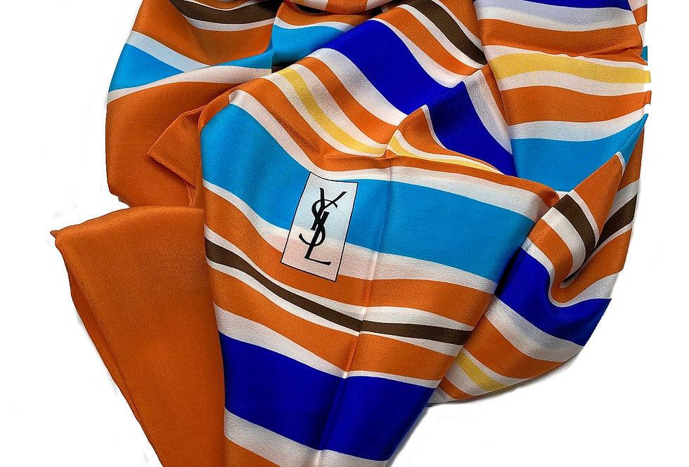Yves Saint Laurent Silk Scarf - Waves O