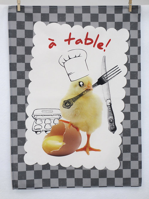 Dish Towel - Humor / A Table