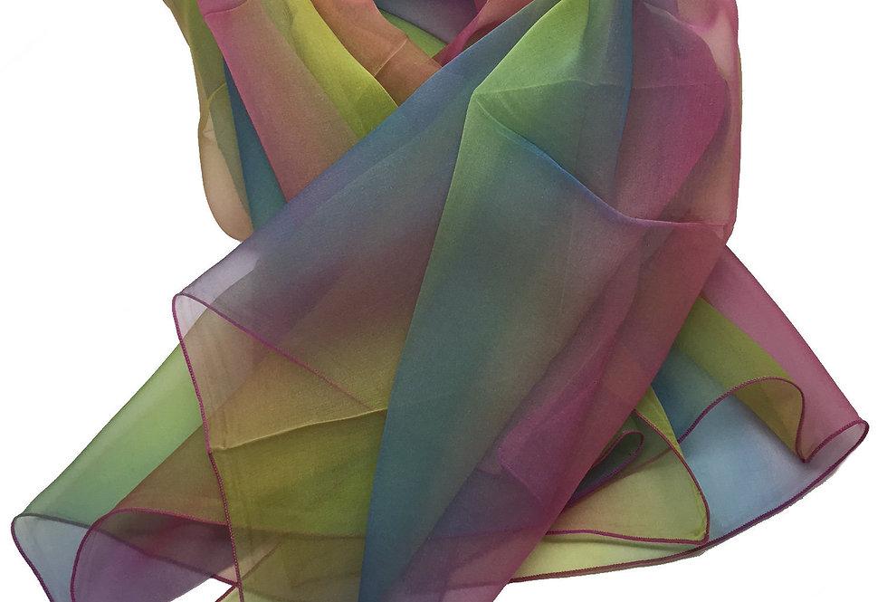 "ELLE made in France ""Rainbow"" Silk Scarf – 2010944-1"