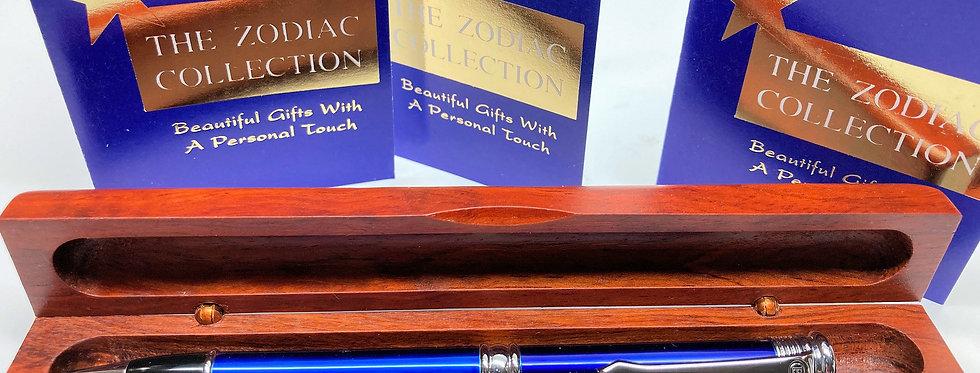 Zodiac Ballpoint Pen in Wood Box