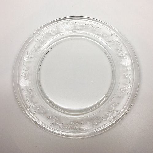 Versailles Clear Glass Dessert Plate - Set of 6