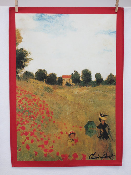 Dish Towel - Monet Exclusive / Poppies