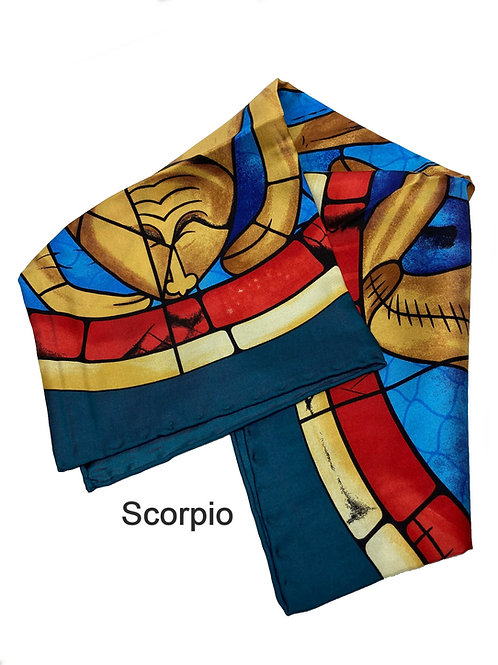Stained Glass Collection Zodiac SILK SCARF