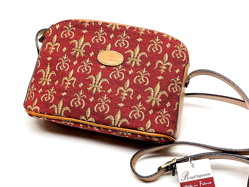 "Royal Tapisserie ""Fleur de Lys"" Shoulder Bag - Red"