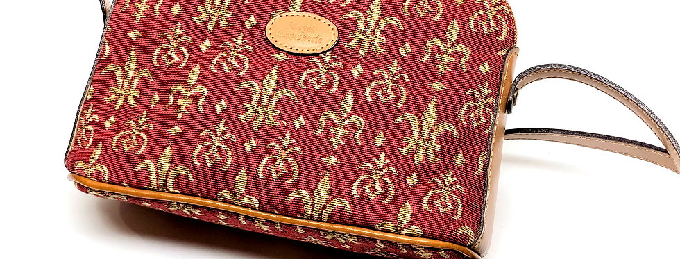"Royal Tapisserie ""Fleur de Lys"" Shoulder Bag - Red"
