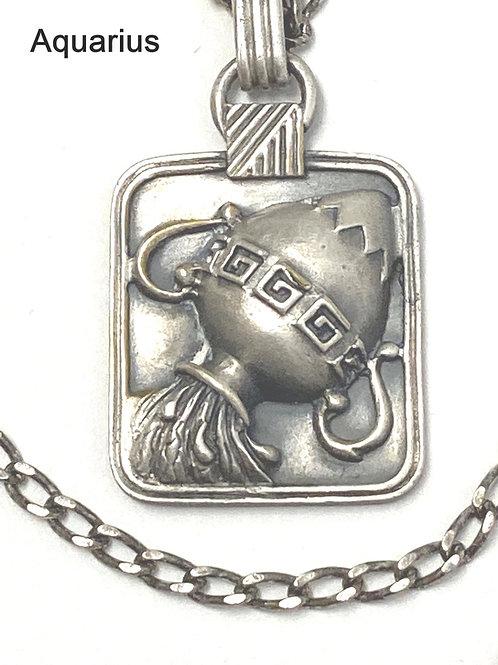 Zodiac Silver Plated Pendant