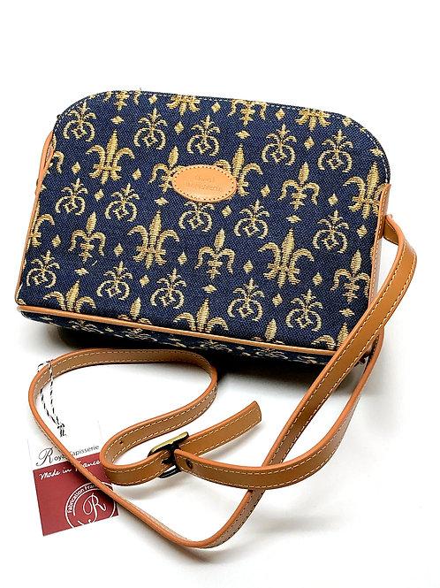 """Royal Tapisserie """"Fleur de Lys"""" Shoulder Bag -Blue"""