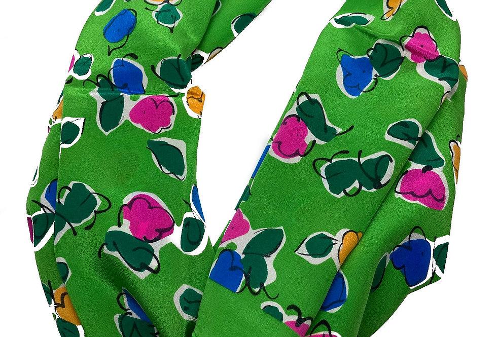 Yves Saint Laurent Silk Scarf - Flowers G
