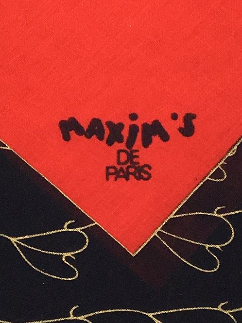 """Maxim's de Paris"" Pocket Square"
