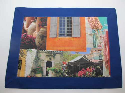 Riviera Exclusive Blue Frame Placemats - Set of 6