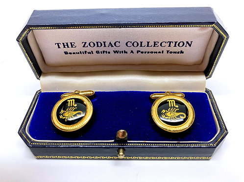 Zodiac Gold Plated Cufflinks
