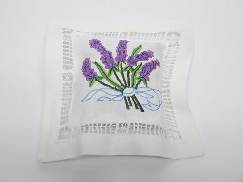 Embroidered Lavender Sachet
