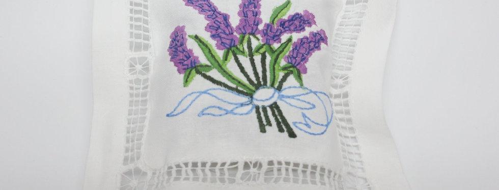 Embroidered Lavender Sachet