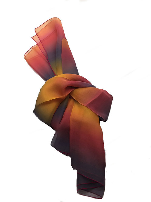 "ELLE made in France ""Sunset"" Silk Scarf – 2010944-2"