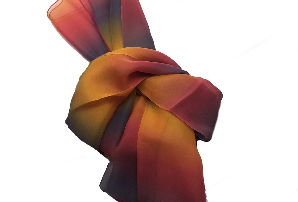 """ELLE made in France """"Sunset"""" Silk Scarf – 2010944-2"""