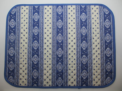 "Set of 6 placemats, ""Esterel Bleu"""