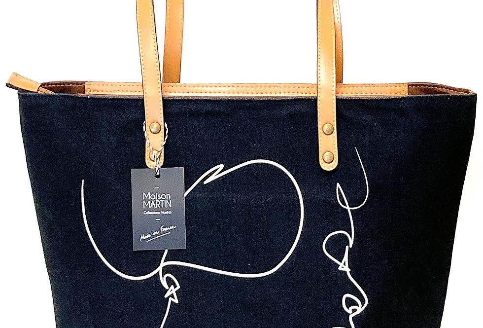 """French Minimalist"" Fashion Tote Bag"