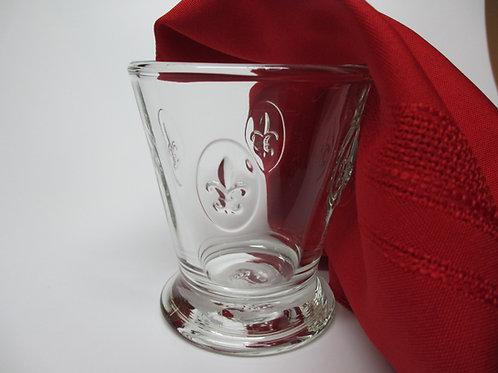 Fleur de Lys Clear Glass Gobelet - Set of 6