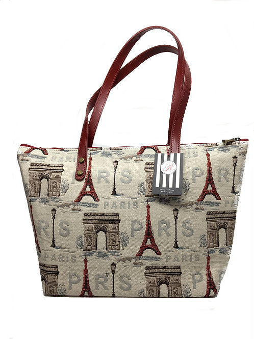 "Royal Tapisserie Tote Bag, ""Eiffel Tower"""
